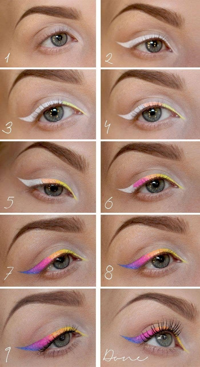 Be the neon goddess you are with this ombre cat eye.