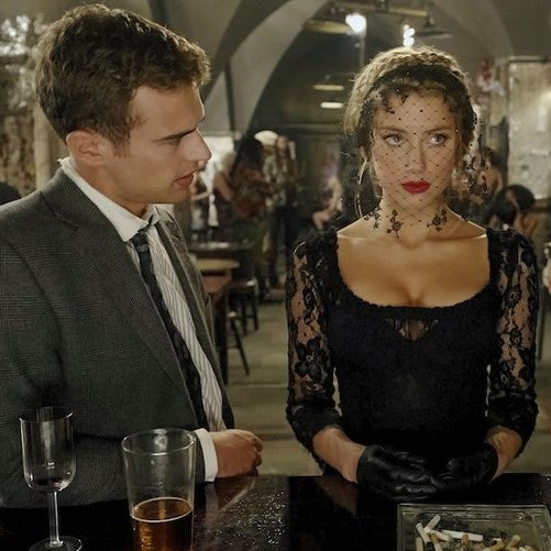 Theo James and Amber Heard in London Fields