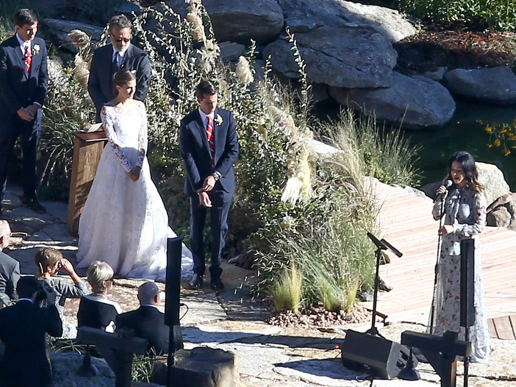 Katy Perry Sang At Allison Williams' Wedding While Tom Hanks Officiated It