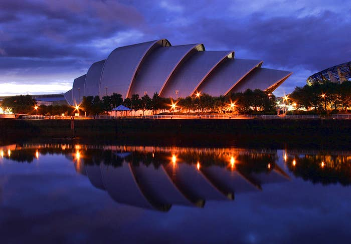 """Boasting not just 3,000 seats, spectacular design (by renowned British architects Foster and Partners) throughout, and an adorable nickname (""""The Armadillo""""), the Clyde Auditorium also boasts its own four-star hotel. Not bad, Glasgow. Not bad."""