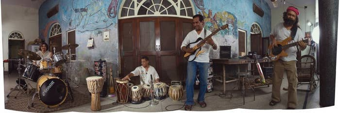 Indian Ocean, jamming at the iconic location of 16/330, Khajoor Road. The place no longer exists.