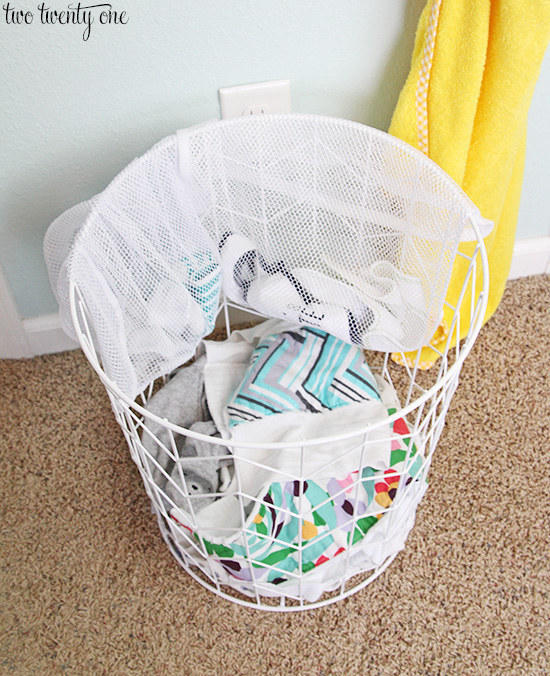 Keep from losing tiny baby socks by washing them in a mesh laundry bag.