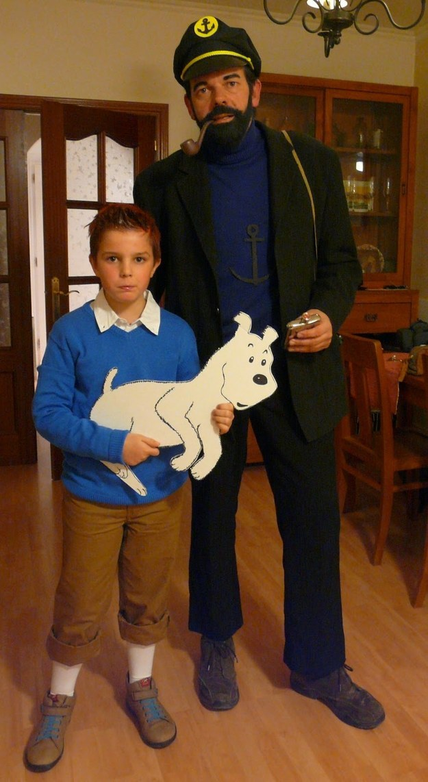 Tintin and Captain Haddock from Hergé's The Adventures of Tintin series