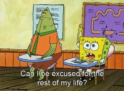 SpongeBob school meme