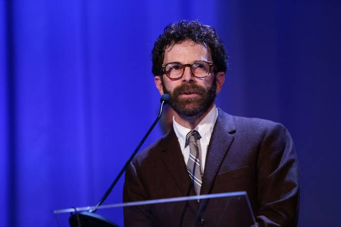Charlie Kaufman accepting the Grand Special Jury Prize at the 2015 Venice Film Festival.
