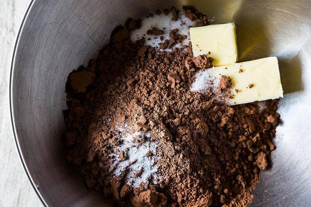 SO SIMPLE: Melt butter and chocolate together, then whisk in the rest of your ingredients. Bake! Get the recipe here.