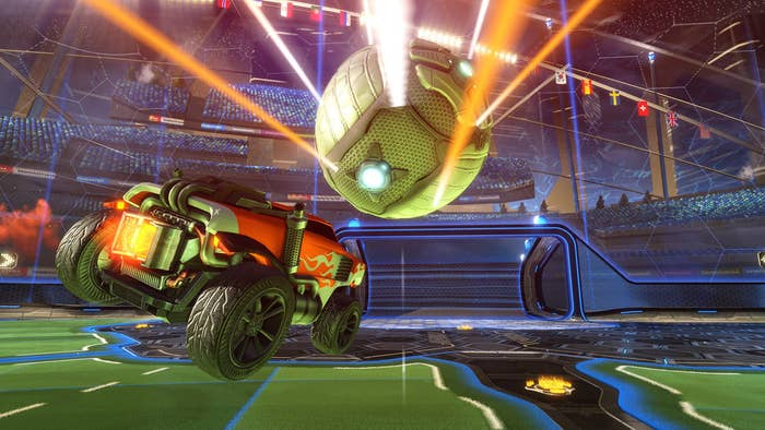 You drive around frantically trying to hit a giant ball into a giant goal in a lil' car with friends. What's not to love?Metacritic rating: 85Available on: PS4, PC