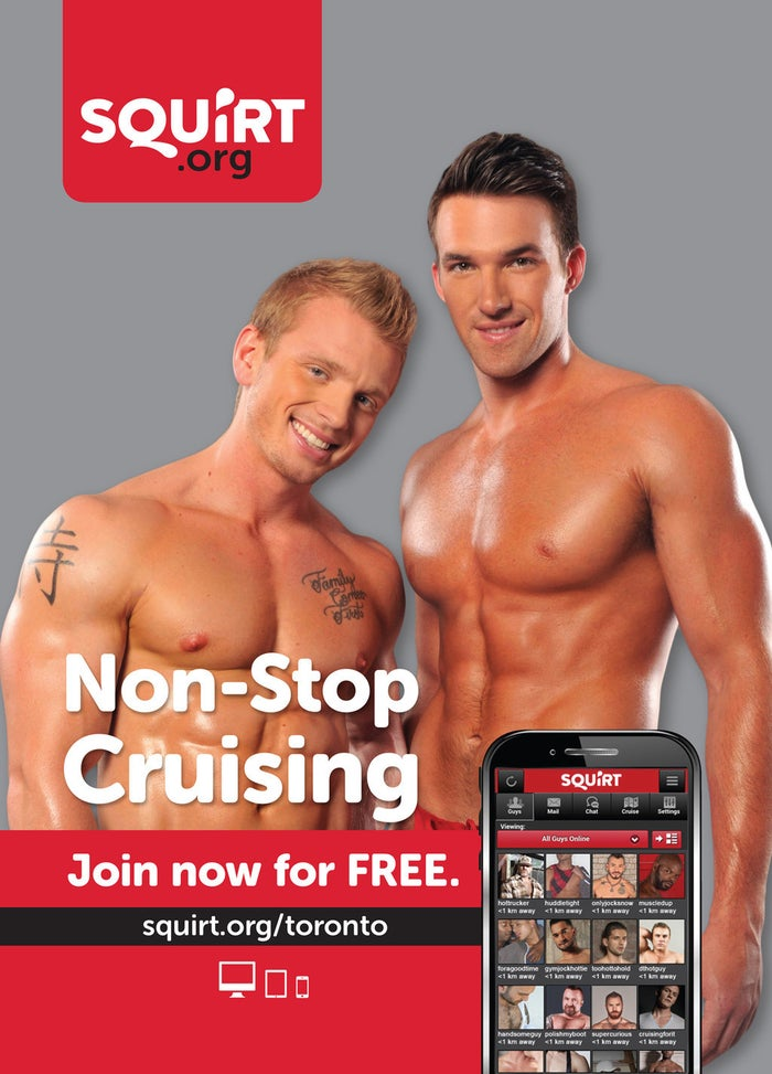 Squirt is a Toronto-based site for gay men owned by Pink Triangle Press, which also publishes Daily Xtra.Two ads for the site went up on TTC subway cars at the end of August, but in mid-September they were taken down.The company's marketing director, Andrew Nolan, told BuzzFeed Canada they were notified that there had been complaints about the ads and the board would be reviewing them. The next they heard, the ads were being taken down.