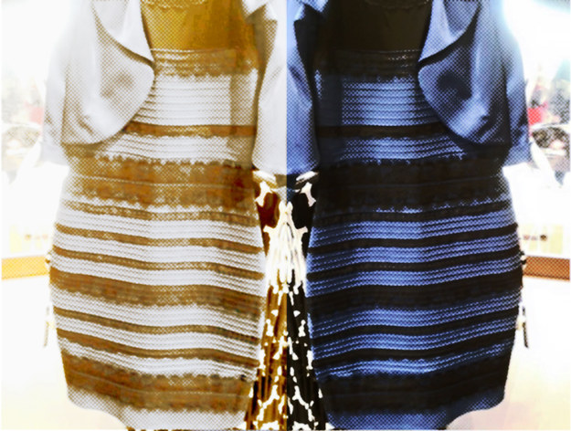 Black gold dress debate