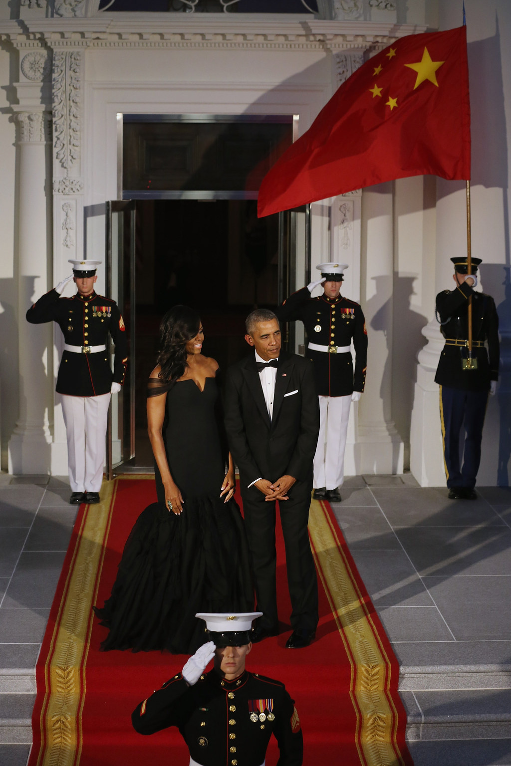 Images of michelle obama in black vera wang dress