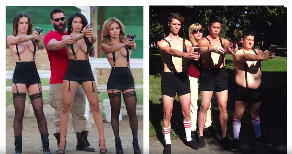 This Woman Recreated Some Of Dan Bilzerians Instagram Photos With Half Naked Men-9323