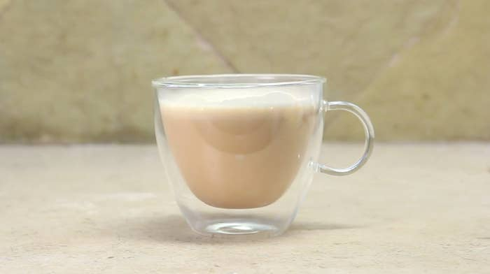Blend 1 cup coffee, 1–3 teaspoons MCT coconut oil, and 1–2 tablespoons unsalted butter.