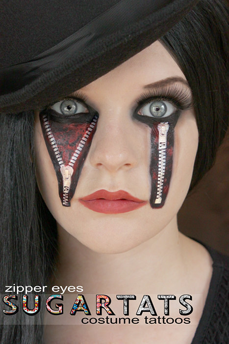 23 temporary tattoos that make halloween makeup easy for Face tattoo makeup