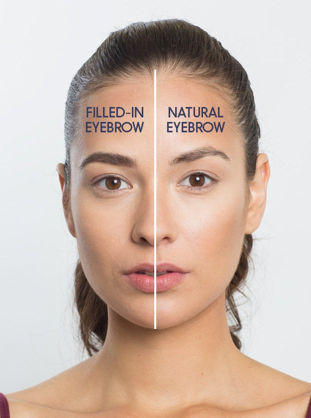 """""""Eyebrows add structure to the eye. A fuller brow also makes your face look younger and fresher, but be careful not to overdo it,"""" he says.""""Fill the brow in a natural way! The brow should have dimension and not look too sharp or too opaque for everyday wear,"""" Rabanal says."""