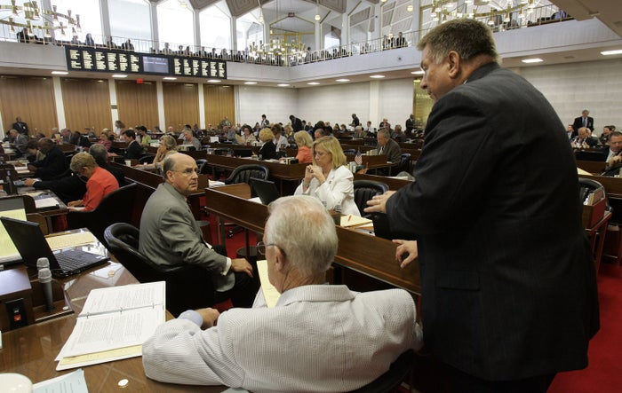 Rep. Paul Stam on the House floor in Raleigh, N.C.