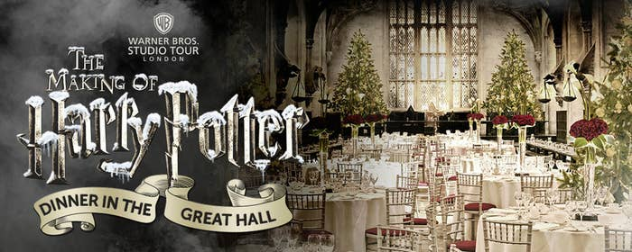 In their first ever dinner in the Great Hall, they invite guests to join them this Christmas season on December 3rd in the iconic set. The Great Hall was the setting for many iconic scenes, including the Sorting Ceremony and many great feasts.
