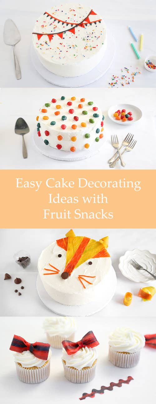 Gushers Look Pretty Darn Great Sitting Atop Some FrostingTutorial 5 Easy Cake Decorating