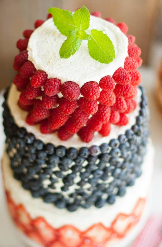 head to the farmers market to get the decorating ingredients for this fruity cake - How To Decorate A Cake