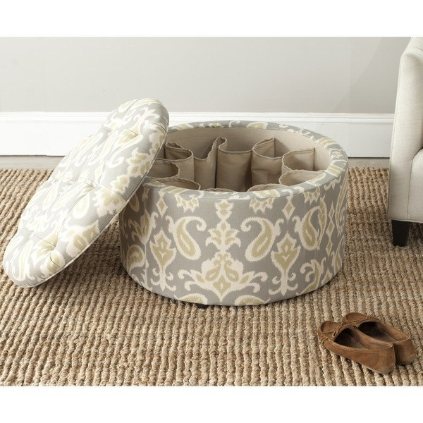 Keep shoes tucked away in this genius ottoman.