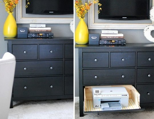 Keep your printer in a secret drawer.