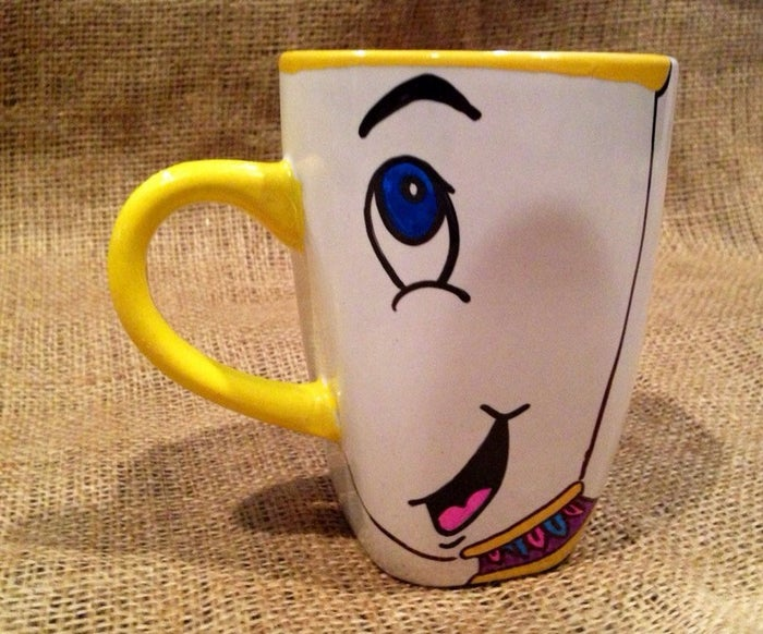 The same Etsy store also has cute hand-painted Disney princess and Lion King mugs.