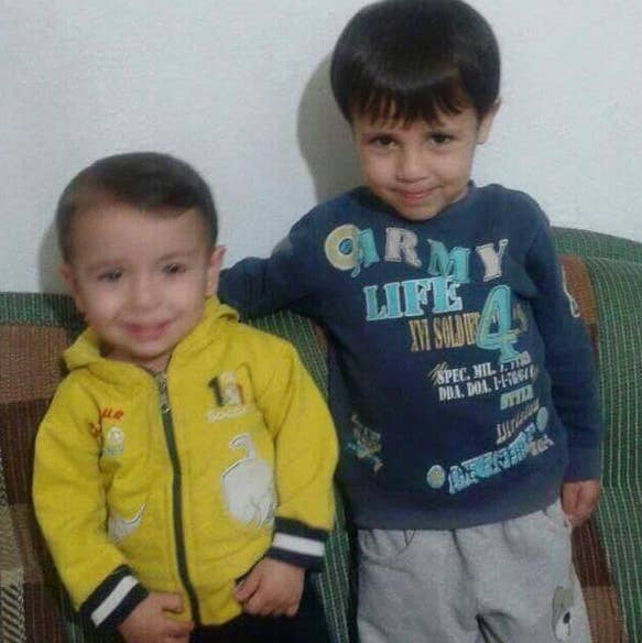 We're not going to show the images in this post, but they were on most British newspapers' front pages this morning, and BuzzFeed has run them elsewhere. This is the boy, Aylan al-Kurdi, aged 3, with his older brother, Galip, who also drowned.