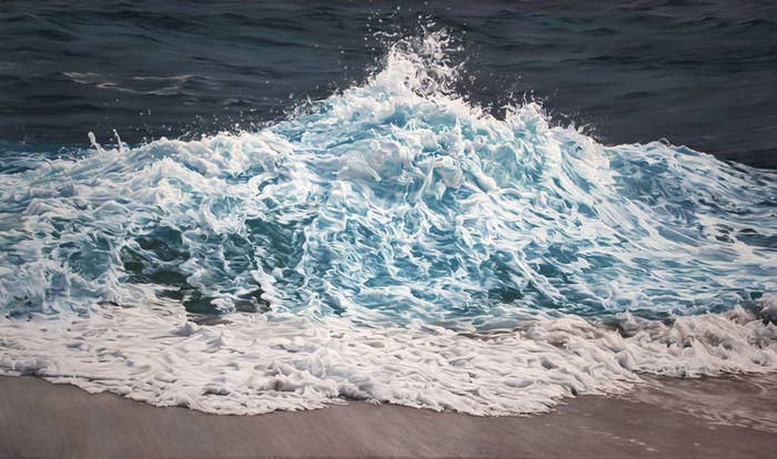 Zaria Forman creates some of the most realistic water and ice drawings in the world. Check out more of her work by following the link below the image.