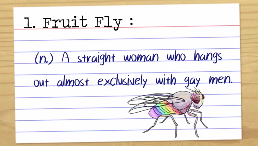 Homosexual slang definitions