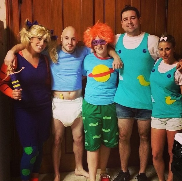 12. Rugrats  sc 1 st  BuzzFeed & 32 Ridiculously Clever Group Halloween Costumes