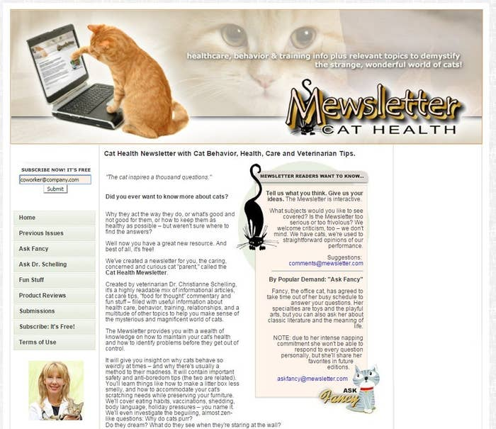 """Immediately, my phone rang. It was my co-worker.""""Did you sign me up for a newsletter?""""""""No.""""""""'Thank you for signing up for Mewsletter.' This is definitely something you would do.""""I played it cool. I was in it for the long con."""