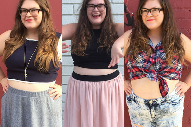 98f167b87 I Wore Crop Tops For A Week As A Plus-Size Woman And This Is What Happened