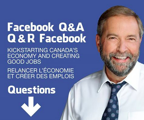 NDP Leader Tom Mulcair did a similar Facebook Q&A in late August where he answered questions such as what his celebratory drink will be when he wins the election. (Which Mulcair didn't even answer. He made an Orange Crush joke. But sources tell BuzzFeed Canada that Mulcair's drink of choice is actually red wine.)Only six weeks to go before the election!