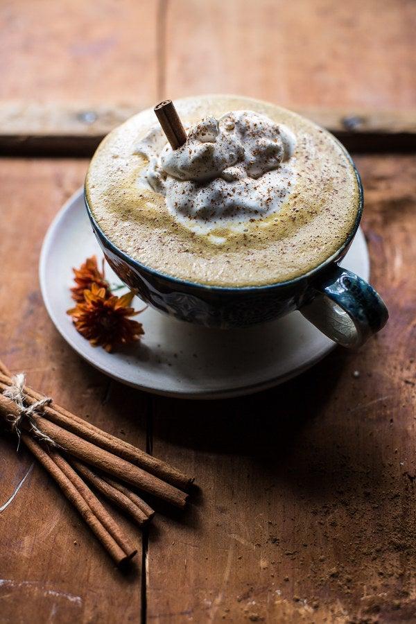 Step aside Starbucks, this pumpkin spice latte is far healthier. Recipe here.