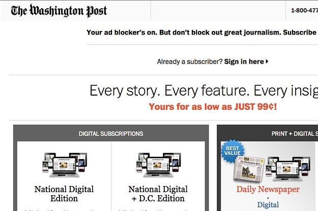 Washington Post Declares War On Ad Blockers