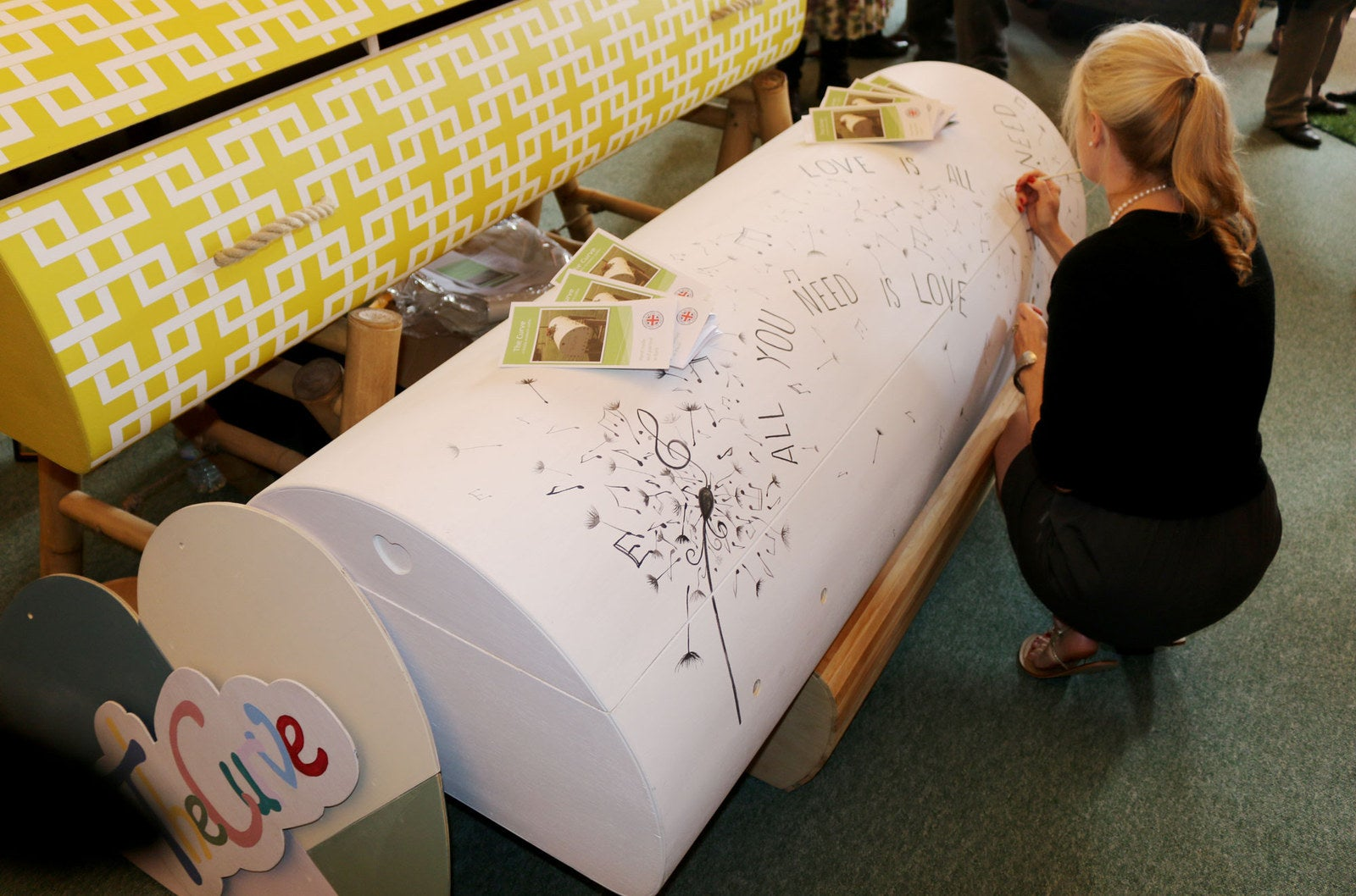 The Curve bespoke coffins.