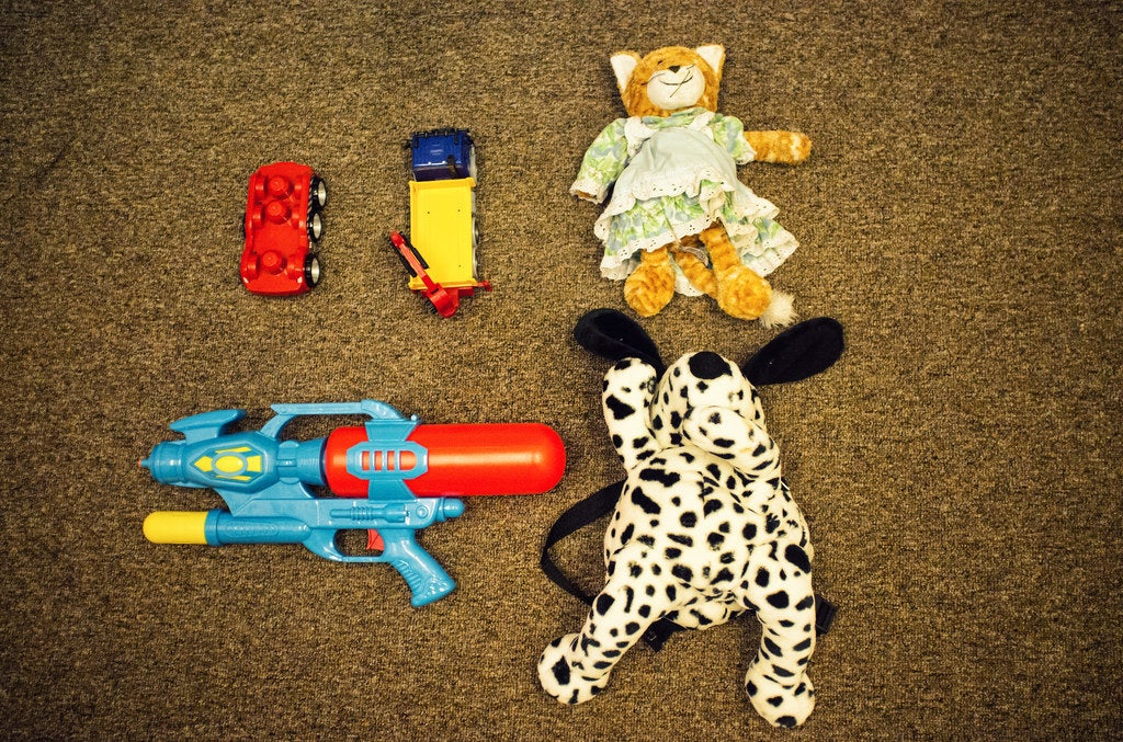 Some toys the children have received as donations.