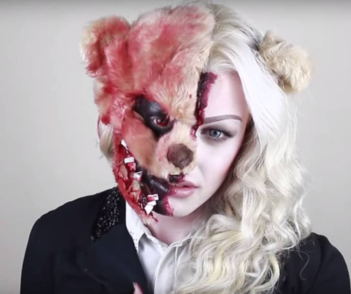 a scare bear - Quick Scary Halloween Costumes