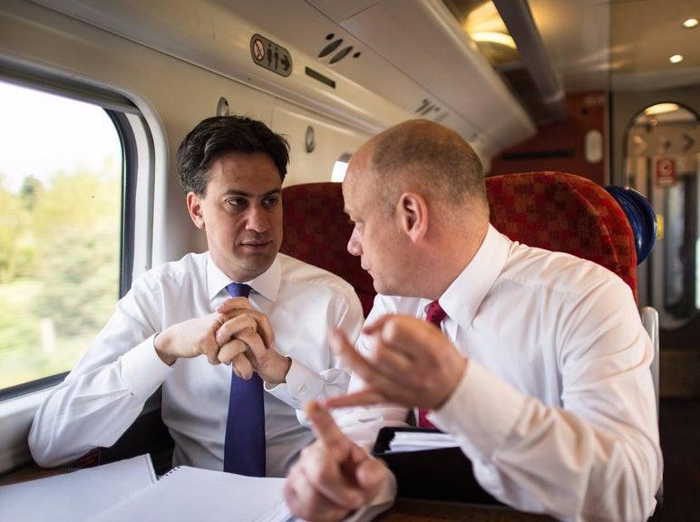 Ed Miliband with Bob Roberts in May.