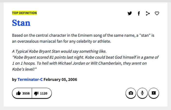 stan urban dictionary
