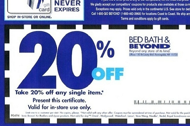 bed and beyond coupon 20