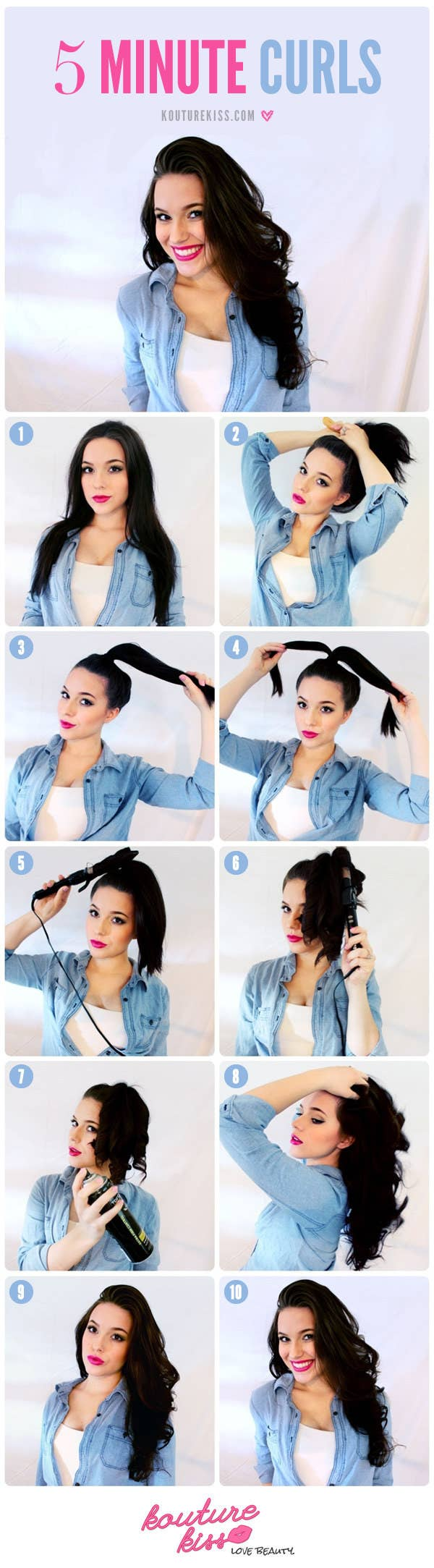 Just curl the ends and then take down the pony. Details here.