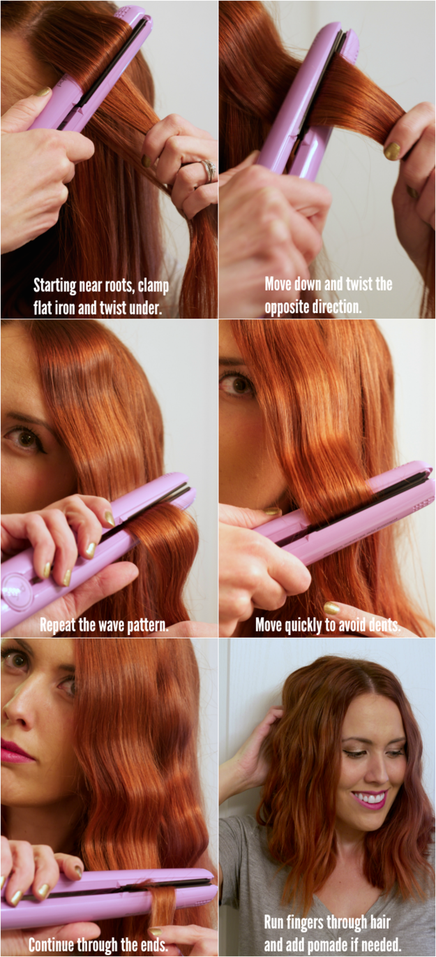 Use a flat iron to make some ~waves.~