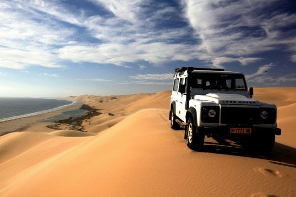 Hop in the back of a 4×4 and hold on tight to your belongings because it's one wild ride to Sandwich Harbour, Namibia. Here, dunes as tall as New York City high-rises plummet into the Atlantic Ocean. In fact, the dunes of the Namib Desert are some of the tallest in the world.