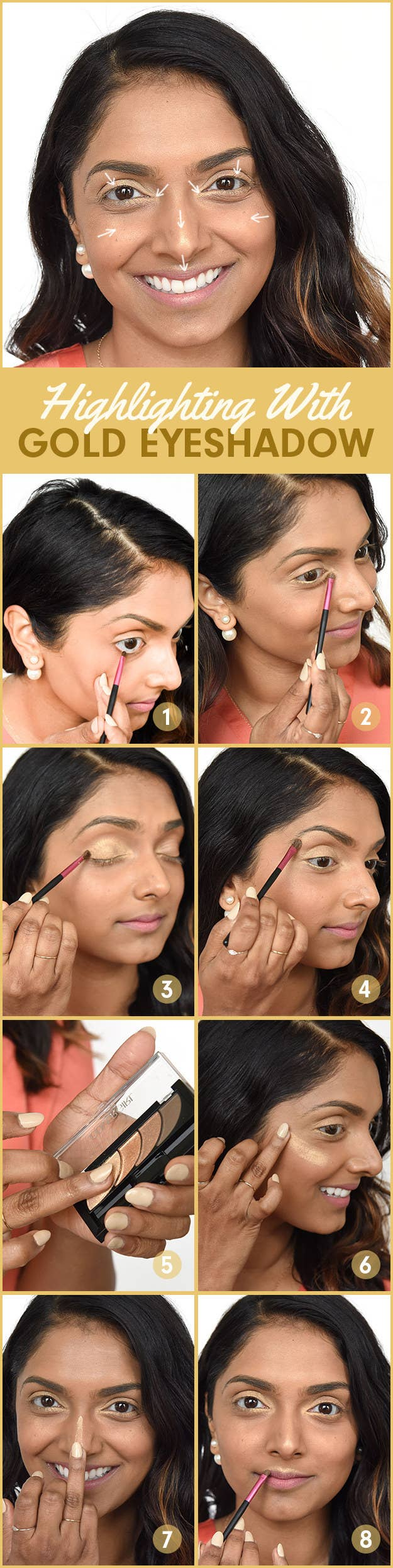 Gold tones look great on Indian skin because it works well with the warm