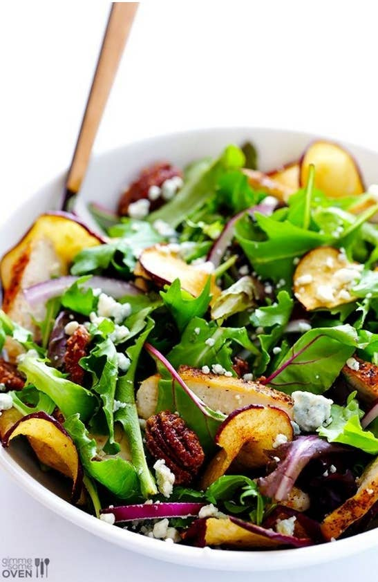 Three cheers for salads that are flavorful AND filling. Recipe here.