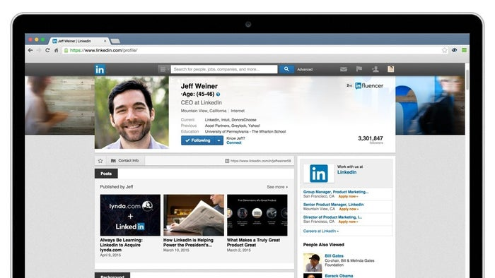 A sample on LinkedIn's CEO Jeff Weiner.