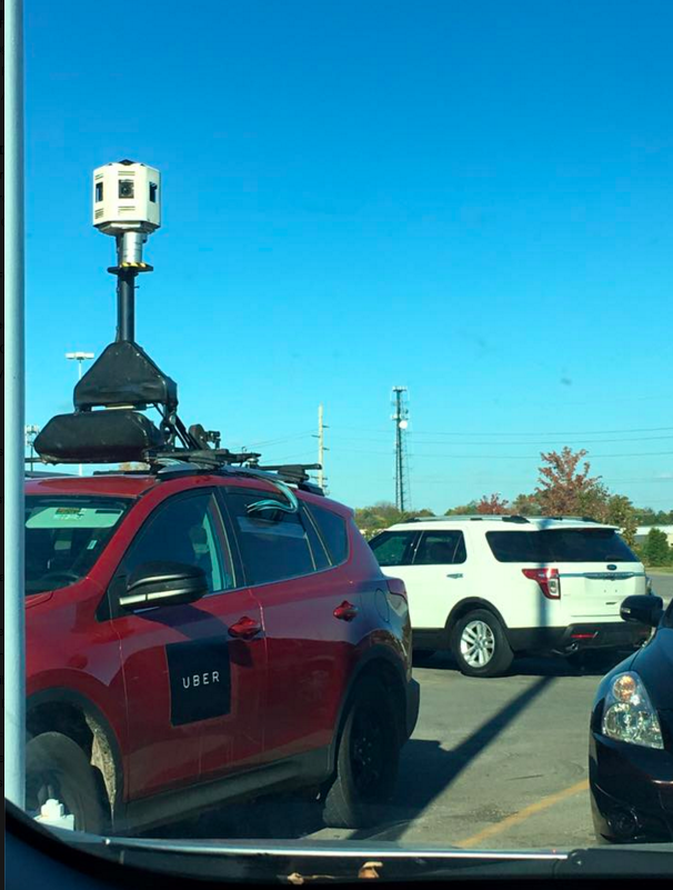An Uber mapping vehicle spotted in Florence, Kentucky by Alana Pratt Thomas.