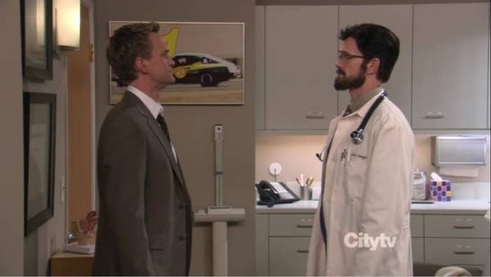 This is ALSO the episode where the gang actually finds Barney's doppelganger, Dr. John Stangel.