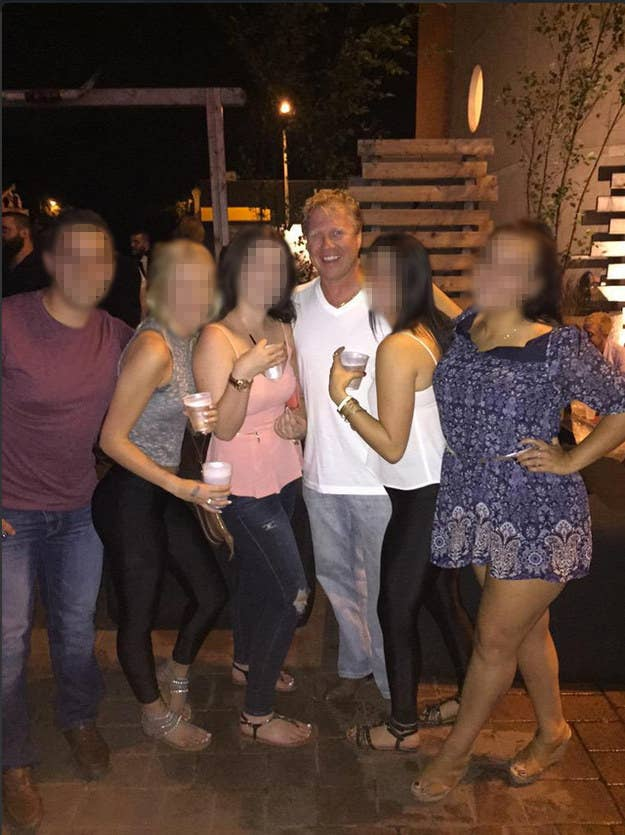 Rick Dykstra was photographed with underage girls at Mansion House in St. Catharines, Ontario on September 2.