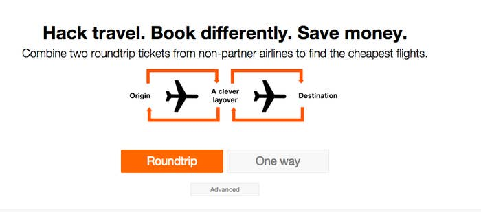 CleverLayover.com searches for multiple flights on non-partner airlines to find you the best deal.